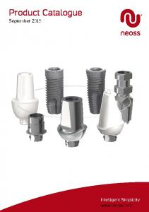 Product Catalogue September 2013