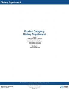 Product Category: Dietary Supplement