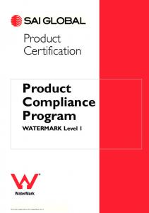 Product Compliance Program WATERMARK Level 1