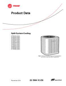 Product Data. Split System Cooling C-EN. November 2014