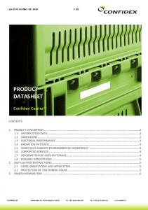 PRODUCT DATASHEET. Confidex Carrier CONTENTS