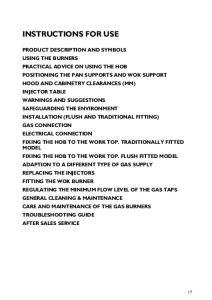 PRODUCT DESCRIPTION AND SYMBOLS
