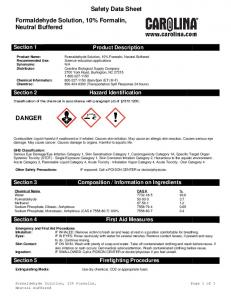 Product Description. Hazard Identification
