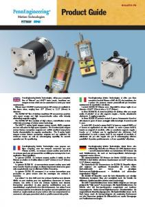 Product Guide BULLETIN PG