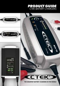 PRODUCT GUIDE CTEK BATTERY CHARGERS