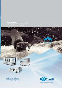PRODUCT GUIDE Industrial Process Cooling