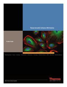 Product Guide. Thermo Scientific Cellomics HCS Solution