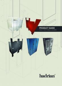 PRODUCT GUIDE TOILET PARTITIONS & LOCKERS