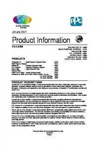 Product Information FILLERS
