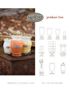 product line  andle.com toll-free oz Candle hrs 26 oz Candle hrs 2.5 oz Votive hrs