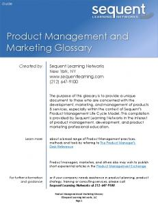 Product Management and Marketing Glossary