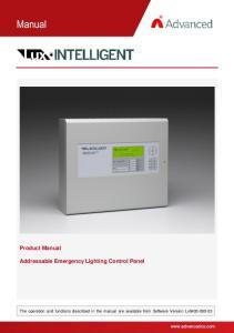 Product Manual. Addressable Emergency Lighting Control Panel