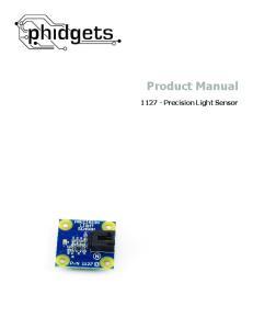 Product Manual Precision Light Sensor