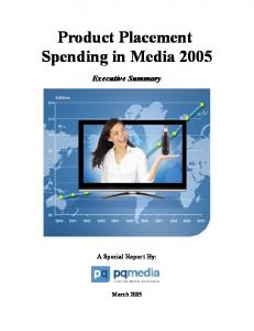 Product Placement Spending in Media 2005