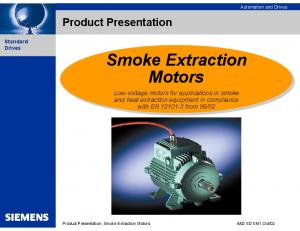 Product Presentation, Smoke Extraction Motors