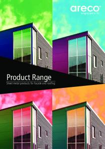 Product Range. Sheet metal products for facade and roofing