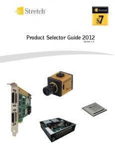 Product Selector Guide 2012 Version 1.5