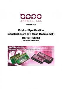 Product Specification Industrial micro IDE Flash Module (MIF) - HERMIT Series -