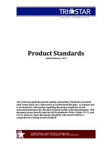 Product Standards Updated January- 2013