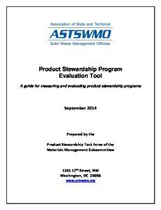 Product Stewardship Program Evaluation Tool