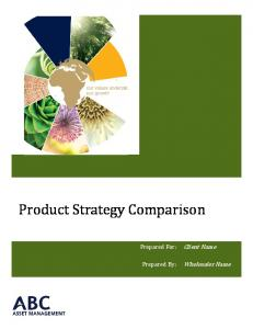 Product Strategy Comparison
