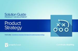 Product Strategy. Solution Guide. Coordinate Anything PRODUCT DEVELOPMENT.04