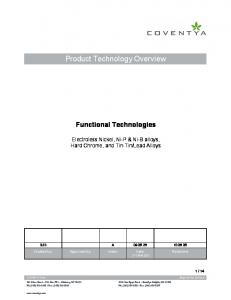 Product Technology Overview
