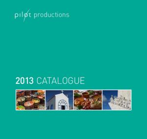 productions 2013 CATALOGUE