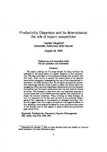 Productivity Dispersion and its determinants: the role of import competition