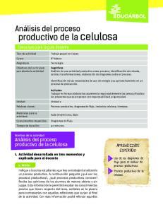 productivo de la celulosa