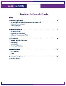 Productos de Comercio Exterior