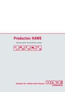 Productos HAWE. Nuestra gama de productos actual