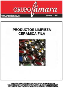 PRODUCTOS LIMPIEZA CERAMICA FILA