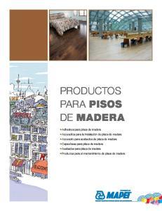 PRODUCTOS PARA PISOS DE MADERA