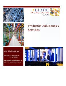 Productos,Soluciones y Servicios