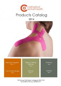Products Catalog. Taping, Casting, Splinting. Page 3. Exercise. Page 4-5 Page 6