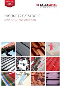 PRODUCTS CATALOGUE RESIDENTIAL CONSTRUCTION