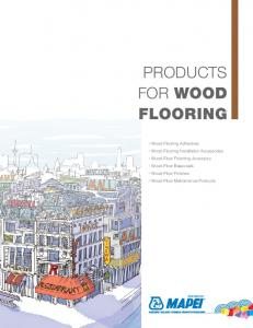 Products for Wood Flooring