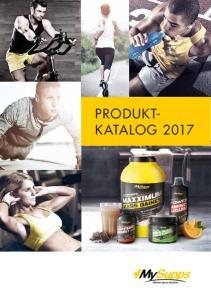PRODUKT- KATALOG 2017