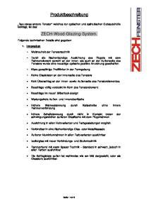 Produktbeschreibung. ZECH-Wood-Glazing-System