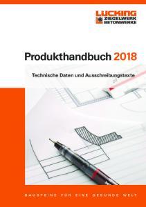 Produkthandbuch Technische Daten und Ausschreibungstexte