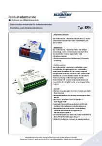 Produktinformation Motoren- und Maschinenschutz