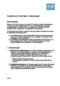 Produktion von In-Vitro-Fleisch - Teilnahmeregeln