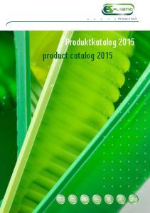 Produktkatalog 2015 product catalog 2015