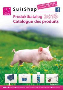 Produktkatalog Catalogue des produits