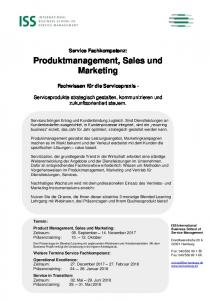 Produktmanagement, Sales und Marketing