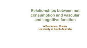 Prof Alison Coates University of South Australia