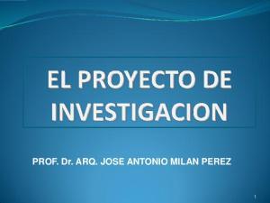 PROF. Dr. ARQ. JOSE ANTONIO MILAN PEREZ