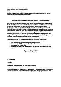 Prof. Dr. Edward Fram, Prof. Dr. Thomas Simon, Dr. Stephan Wendehorst, Prof. Dr. Wolfgang Wieshaider und weitere Dozenten
