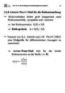 Prof. Dr. H. Rommelfanger: Entscheidungstheorie, Kapitel 3 54